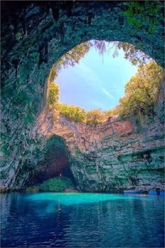 Melissani Cave, Lake.Kefalonia, Greece. Is it safe to jump?