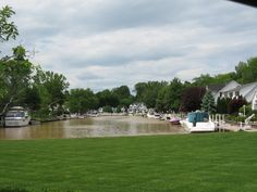 Vermilion, Ohio  Delightful town of white cottages built on wide canals like streets!