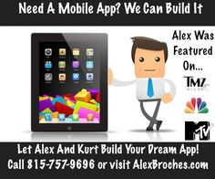 We build apps. Contact us today at www.alexbroches.com
