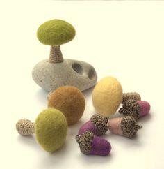 Medium crochet felted wool mushroom Alice in by astashtoys on Etsy, $7.00