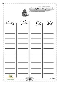 Alphabet Writing Worksheets, Alphabet Writing Practice, Arabic Alphabet Letters, Arabic Alphabet For Kids, Write Arabic, Arabic Phrases, Learn Arabic Online, Arabic Lessons, Alphabet Coloring Pages