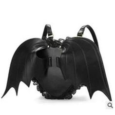 online shopping for NEEVAS Fashion Girl Gothic Black Bat Heart Wings Goth Punk Lace Lolita Wing Bag Backpack from top store. See new offer for NEEVAS Fashion Girl Gothic Black Bat Heart Wings Goth Punk Lace Lolita Wing Bag Backpack Lace Backpack, Black Leather Backpack, Backpack Bags, Fashion Backpack, Pu Leather, Rucksack Bag, Mini Backpack, Pastel Backpack, Backpack Online