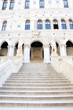 The Doge's Palace in Venice #staircase