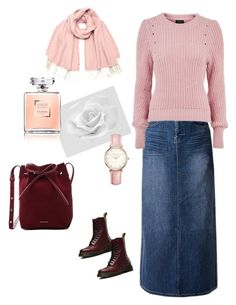 """Hijab in pink"" by manal-bilal on Polyvore featuring WithChic, Topshop, Dr. Martens, Vero Moda and Mansur Gavriel"