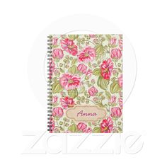 flower vintage notebook from Zazzle.com