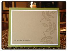 Stampin' Up Clean & Simple Leaves