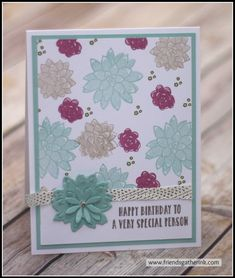 "Birthday Card made with the ""Oh So Succulent"" stamp set by Stampin' Up!"