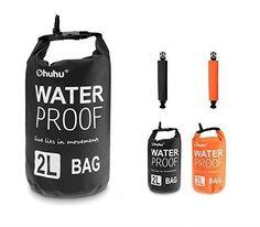 [Sac Etanche] Ohuhu® 2L Sac Etanche Extérieur/Dry Bag pour Nautique, Kayak, Pêche, Rafting, Natation, Noir | cueilli
