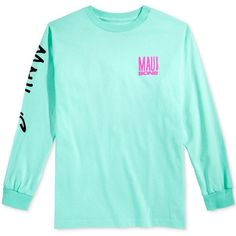 Maui and Sons Men's Fish Out of Water Logo T-Shirt ($20) ❤ liked on Polyvore featuring men's fashion, men's clothing, men's shirts, men's t-shirts, celadon, mens long sleeve t shirts, mens graphic t shirts, mens longsleeve shirts, mens long sleeve shirts and mens long sleeve graphic t shirts