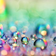 Rainbow bubbles~When I was a girl, I used to love to stare at the soap bubbles in the sink, instead of washing the dishes!~