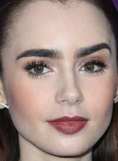 Close-up of Lily Collins at the 2017 Costume Designers Guild Awards.