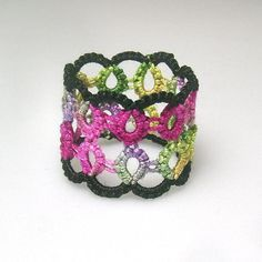 Needle Tatting Patterns For Beginners | Remembrance tatted ring by Marilee Rockley | Other Pattern