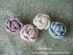 簡単♪miniバラモチーフ #58の作り方|編み物|編み物・手芸・ソーイング|作品カテゴリ|ハンドメイド・手芸のレシピ、作り方ならアトリエ