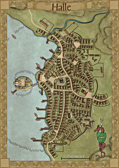 Halle Fantasy city map Fantasy map Fantasy city