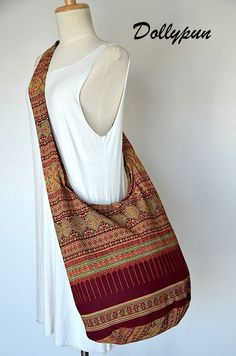 Traditional Thai Patterns / BURGUNDY / Ethnic Hippie by Dollypun