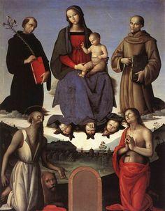 Madonna e Bambino con 4 santi, Perugia-Galleria Nazionale dell'Umbria