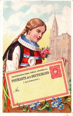 CACAO VAN HOUTEN - WOMEN OF DIFFERENT NATIONS WITH POSTCARDS - GERMANY | Flickr~Photo Sharing!