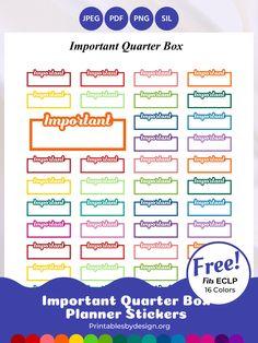 Work Planner, Free Planner, Happy Planner, Printable Planner, Printables, Planner Stickers, Printable Stickers, Erin Condren Life Planner, Sticker Paper