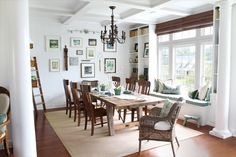 bright casual dinning room
