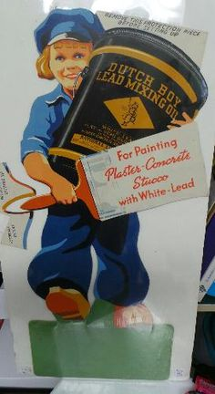 Dutch Boy Diecut Cardboard Display Sign Advertising-Signs