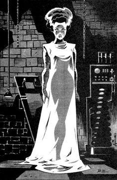 Frankensteinia: The Frankenstein Blog: Bruce Timm's Classic Bride