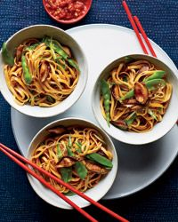Lo Mein with Mushrooms and Snow Peas Recipe on Food & Wine