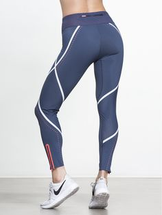 Excellence Run Legging by SWEATY BETTY in Mod Blue