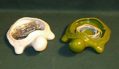 Turtle ring holder / office supply holder by ceramicsbylisa, $12.99