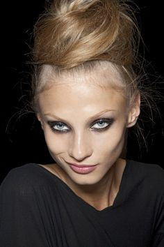 Anna Selezneva backstage at Lanvin <3    Found on fashioninquality.tumblr.com via Tumblr