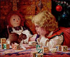 Christmas cat painting. Jim Daly - Favorite Gift