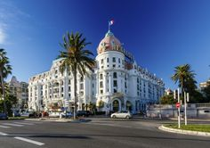 Luxury Hotel Negresco on English Promenade in Nice, French Riviera, France Nice France, South Of France, Provence, Promenade Des Anglais, Hotels In France, Relaxing Holidays, Famous Buildings, France Photos, City Break