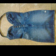 Denim Guess Halter Dress New but took tags off..tad too tight can't breathe! Guess by Marciano Jeans