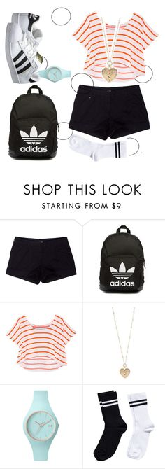 """""""Random"""" by donuts-n-sprinkles ❤ liked on Polyvore featuring Prada Sport, adidas Originals, Rebecca Minkoff, Betsey Johnson, Ice-Watch and Pieces"""