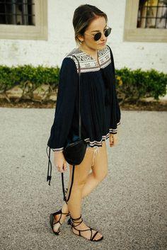 Tuscan Summer #outfit #spring #hm #stevemadden #lace-up #sandals #denim #shorts #blog  https://www.instagram.com/emma_hentzen/