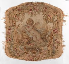 Probably Beauvais. Reclining Putto, second half 19th century. French. The…