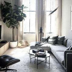 The classy TS table - designed by Gamfratesi for @gubiofficial in this lovely NY appartment. Photo by @nick_nemechek #ibutikken #tstable #gubi #houzoslo