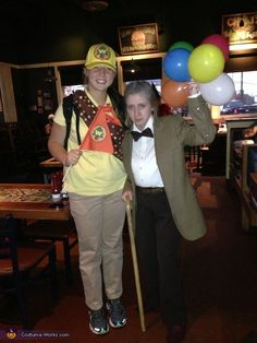 Russell the Wilderness Explorer and Mr. Carl Fredrickson from Disney's Up - Halloween Costume Contest via @costume_works