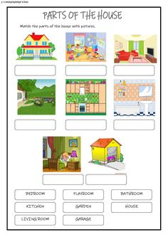 Language arts parts of the house worksheet, kindergarten worksheets, school Weather Worksheets, Shapes Worksheets, Free Kindergarten Worksheets, 1st Grade Worksheets, Free Preschool, Learning English For Kids, English Lessons For Kids, Teaching English, English Worksheets For Kids