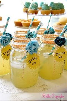 bdvp :: Helen Guzman: Tea Style Baby Shower paper straws, bakers twine, mason jars, tea party