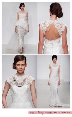 Amsale spring 2013 lace wedding dresses
