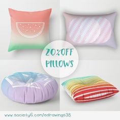 20% OFF All Pillows in my Society6 shop ➤ https://society6.com/edrawings38?curator=edrawings38  #pillows #cushion #promo #sale #homedecor #interiordesign #geometric #abstract #design #cute #colorful #summer #giftideas #shop #homegoods #floorpillow #cozy #society6 #edrawings38 #s6artist