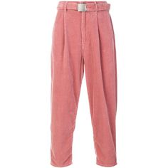 Doublet wide leg corduroy trousers ($493) ❤ liked on Polyvore featuring men's fashion, men's clothing, men's pants, men's casual pants, pants, mens pink pants, mens wide leg pants and mens corduroy pants