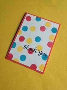 Thank you card using Stampin' Up! Eye-catching ikat photopolymerset