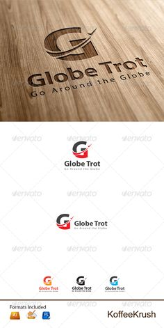 Globe Trot Travel Logo — Photoshop PSD #transportation #tickets • Available here → https://graphicriver.net/item/globe-trot-travel-logo/6238734?ref=pxcr