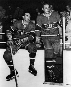 Maurice Richard and Jean Beliveau / Montreal Canadiens Montreal Canadiens, Mtl Canadiens, Maurice Richard, Hockey Teams, Ice Hockey, Rangers Hockey, Hockey Stuff, Kings Hockey, Hockey Girls