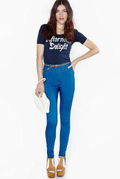 Perfect Ten Skinny Jeans - True Wash  - Nasty Gal Fashion