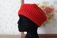 Women Knit Berets Womens knit winter hat red hat Women