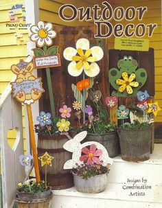 Outdoor Art Decor Designs Flower Pots Garden Windchimes Whirligig Picks