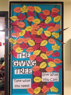 The giving tree bulletin board