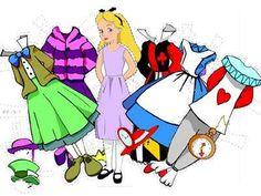Disney Alice In Wonderland Paper Doll Free Printable Template Pattern